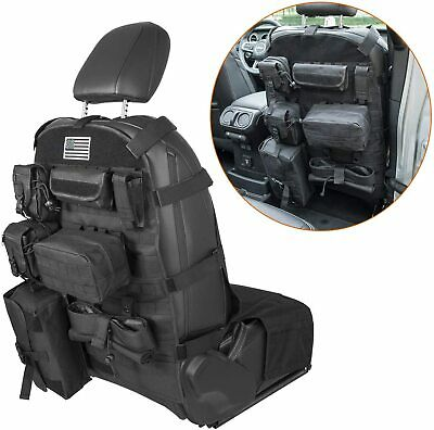 Front Seat Cover Molle Pouches Organizer for Jeep Wrangler JK JL CJ YJ and more