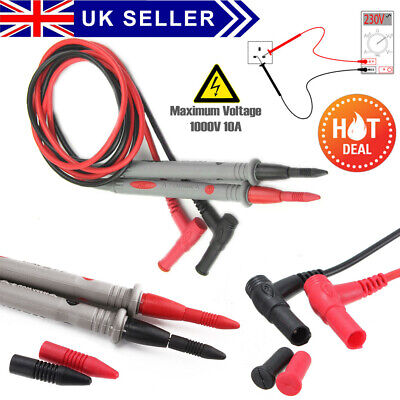 New Best Quality 10A Digital Multimeter Test Leads Probes Volt Meter Cable UK