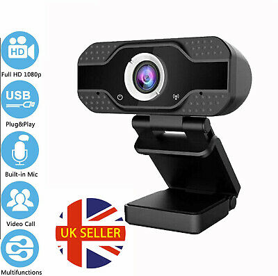 Full HD 1080P Webcam With Microphone USB For PC Desktop Laptop focus Clip-On