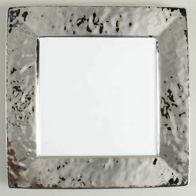 222 Fifth SLATE SQUARE SILVER Dinner Plate 10409137