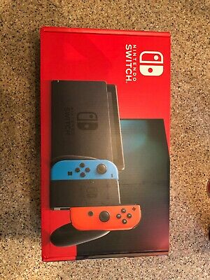 Nintendo Switch V2 32GB with Neon Red and Blue Joy-Con brand new