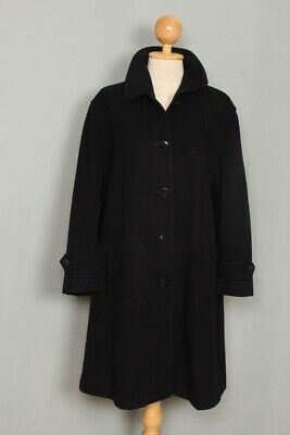 BEAUTIFUL Womens BURBERRY Wool Single Breasted Trench Coat Navy Large/XLarge