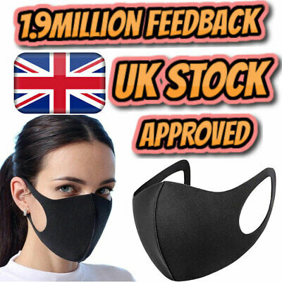 Reusable Face Mask Protective Breathable Mouth Nose Washable Protection UK Lot