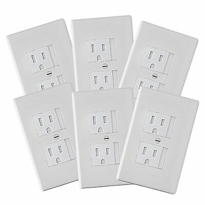 6-Pack Safety Innovations Self-Closing Standard Outlet Covers White