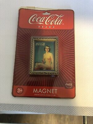"""Coca-Cola '1937 Yellow Swimsuit Lady"""" Magnet  LOT of 9 NOS"""