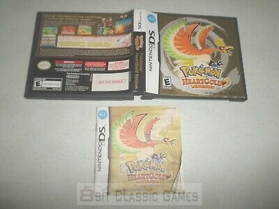 AUTHENTIC!! Pokemon Heartgold CASE & MANUAL ONLY - NINTENDO DS - FAST SHIPPING