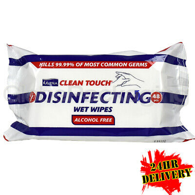 5 x PACKS OF DISINFECTING WET WIPES FOR SURFACES AND HANDS (48 SHEETS PER PACK)