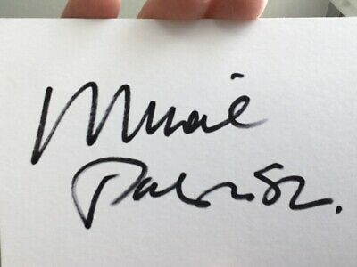 Michael Parkinson  Signed White Card