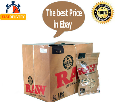 RAW Rolling Paper Slim CELLULOSE CIGARETTE FILTER TIPS BUY