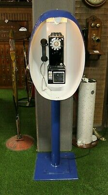 1960's Phone Booth Shell Mod Style Rotary
