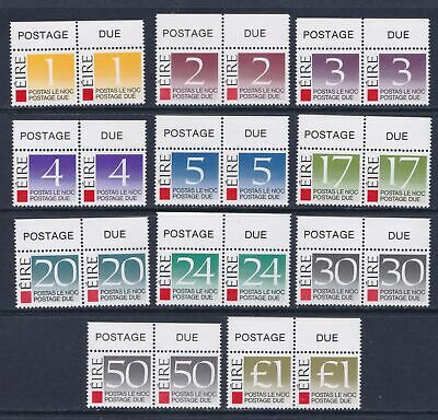 Ireland 1988 Postage Due Stamps - Full set in MNH margin pairs - Cat £14 - (95)