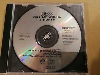 Guesss. - Tell Me Where It Hurts -   Rare Promo R&B Cd Single