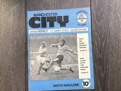 Manchester City v Burnley, 1973 FA Charity Shield.