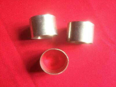 3 Silver Plated Oval Shaped Plain Napkin Rings