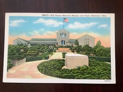 Will Rogers Memorial Museum and Tomb Claremore, Okla. postcard