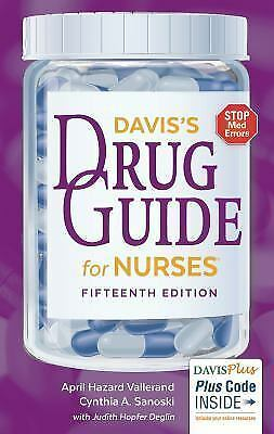 Davis's Drug Guide for Nurses by Cynthia A. Sanoski and April Hazard...