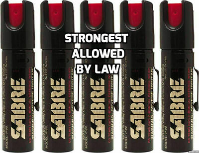 5 Sabre Professional Pepper Spray Self Defense Police Red Pocket Unit Protection
