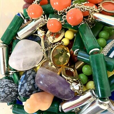 No Junk -- Over 2 Pounds ~ Vintage Mixed Costume Jewelry Grab Lot ~ Sell Wear