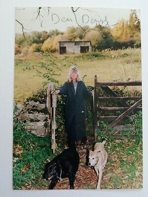 Writer Jilly Cooper Signed Photo