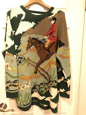 Hunter Horse And Hound Knitting Needles  Hand Made Sweater Rare Vintage