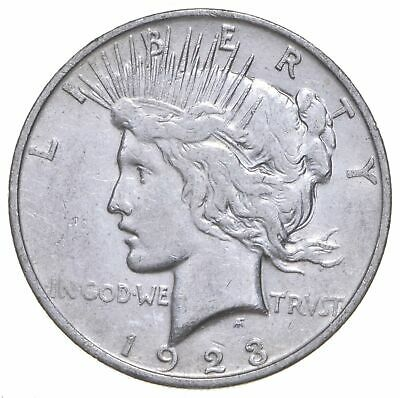 Early - 1923-D - Peace Silver Dollar - 90% US Coin *381