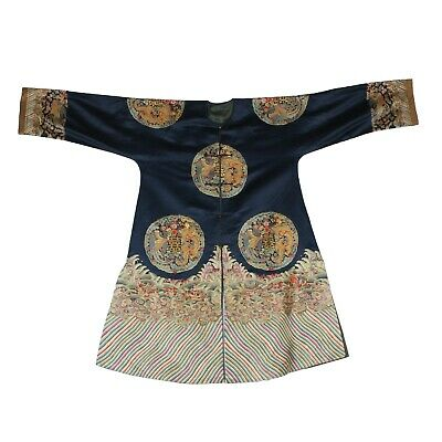Chinese Antique Silk Embroidery Dragon and Phoenix Robe