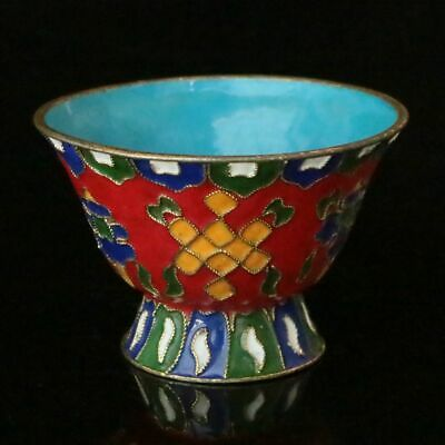 Chinese exquisite  hand-made Cloisonne Enamel flower bowl