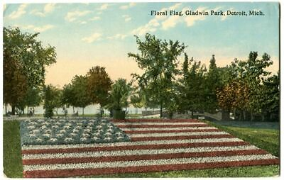 Floral Flag, Gladwin Park, Detroit MI Michigan 1910s