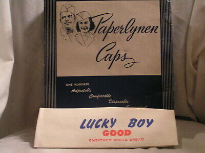 72 Lucky Boy Good Enriched White Bread Adjustable Paper Hat In Box Columbus,Oh