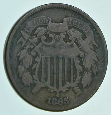 1865 Two-Cent Piece - Charles Coin Collection *651