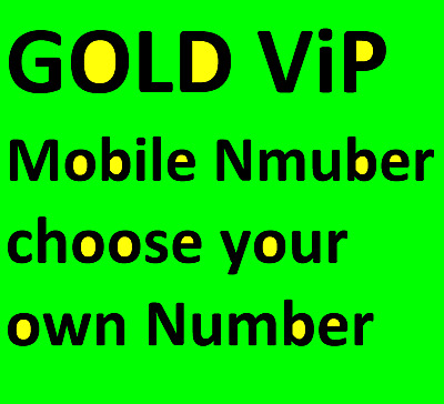 CHOOSE NUMBER from listing  Gold VIP Business Mobile Phone Number  EE UK