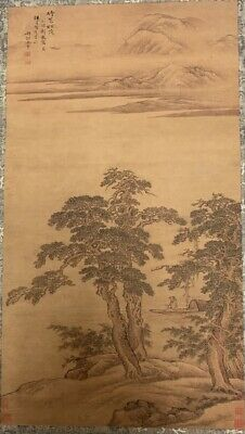 A Chinese Antique Scroll Painting on Paper , Signed.