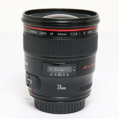[Mint] Canon EF24mm F1.4L II USM Camera Lens From Japan + Free Shipping #9402
