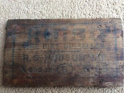 Rinso Wooden R S Hudson Soap Advertising Box End Not Enamel Sign