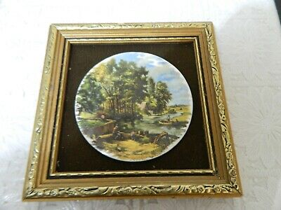 Vintage hand made enamel on copper picture by P. Collins 4