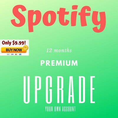 Spotify Premium Upgrade | 12 Months | Instant Delivery | Warranty | Personal acc