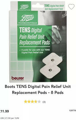 Boots Tens Machine Replacment Pads X4 READ LISTING!!!!!!