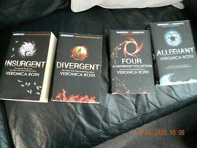 Divergent Insurgent 4 Books Young Adult Paperback Set By Veronica Roth NEW