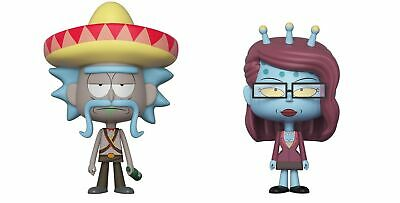 Funko Vynl Morty-Rick with Sombrero and Unity Collectible Figure, Multicolor