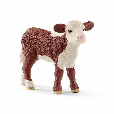 Schleich Hereford Calf Toy Figurine