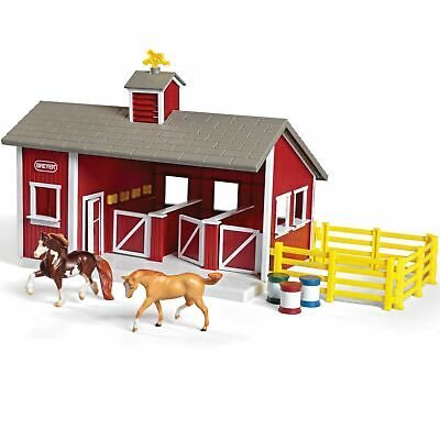 Breyer 59197 Stablemates Red Stable and Horse Set Red Stable Set