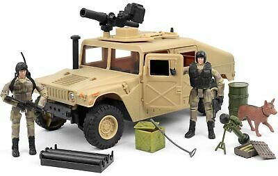 Click N' Play Military Humvee Jeep Vehicle 20 Piece Play Set with Accessories.