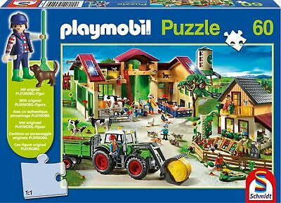 SCHMIDT on The Farm Playmobil Jigsaw Puzzle, 60-Piece