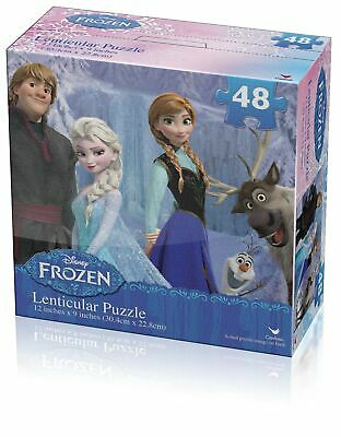 Disney Frozen Elsa Olaf and Anna Lenticular 48 Piece Kids Puzzle