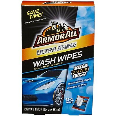 Armor All Ultra Shine Car Wash Wipes (12 Count), 18240 .1 Pack (12 Count)