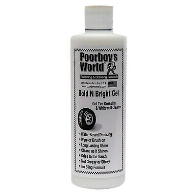 Poorboy's World Bold N Bright Tire Dressing & Whitewall Cleaning Gel 16 oz