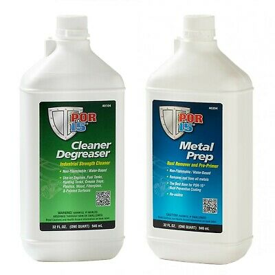 POR-15 Quart Cleaning Kit with Marine Clean Degreaser & Metal Ready Surface P...