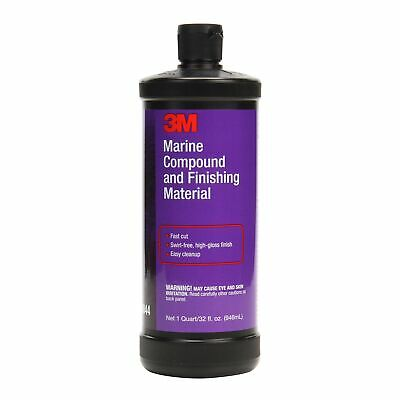 3M Marine Compound and Finishing Material, 06044, 32 fl oz 32 Fluid Ounce