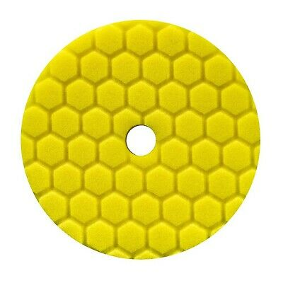 Chemical Guys BUFX111HEX6 Hex-Logic Quantum Heavy Cutting Pad (Yellow, 6.5 In...