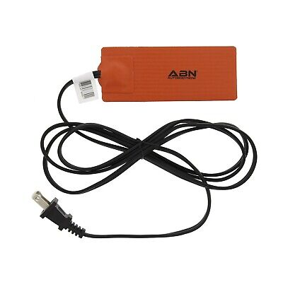 ABN Silicone Heating Pad 120V - 2 x 5 Inch Universal Engine Heater Car Oil Pa...
